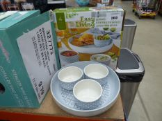 2 boxed Easy Living serving sets plus 1 unboxed
