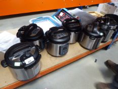 3308 - 6 assorted unboxed instant pots