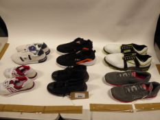 Bag of assorted trainers and footwear accessories