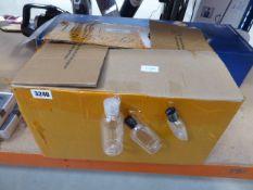 A big box containing 50ml, 70ml & 100ml empty plastic bottles