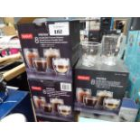 Oil and vinegar bottle set plus 4 boxes of double wall thermo glasses