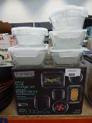 Boxed Glasslock food storage set