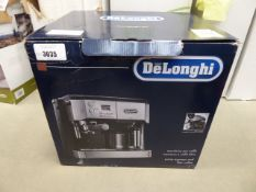 Boxed De'Longhi double shot espresso machine Condition report: Used, some cosmetic marks