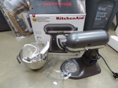 (TN117) Boxed Kitchenaid 4.3 litre mixer Condition report: Opened box, used condition