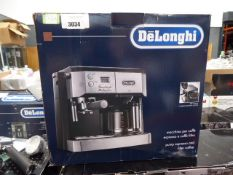 3171 - Boxed De'Longhi double shot espresso machine Condition report: Used, some cosmetic marks