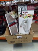 Box containing 2 boxed and 2 unboxed multi prep food slicers
