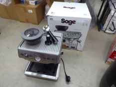 Boxed Sage Barista Express coffee machine