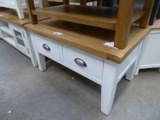 White painted oak top coffee table with 4 drawers (19)
