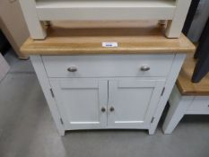 White painted oak top small sideboard with drawer and 2 door cupboard under (5)