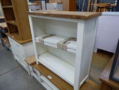 White painted oak top open font bookcase (30)