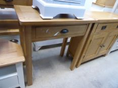 Oak hall table with drawer under (14)