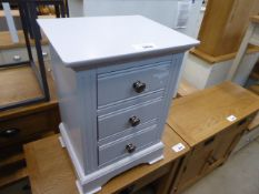 Blue painted bedside unit with 3 drawers (23)