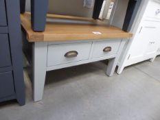 Grey painted oak top 4 drawer coffee table (37)