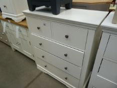 White painted chest of drawers (2)