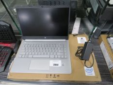 HP laptop model 14S-DQ1024NA (laptop has faulty screen, no display, for spares and repairs) includes