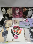 Box containing quantity of LP and 45 records to include Prodigy, Tash Sultana, Peel Dream