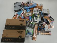 Bag containing quantity of various sized batteries