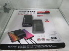 2 PocketJuice hypercharge portable power banks