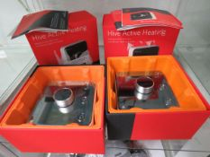 2x Hive Active heating thermostat controls in boxes