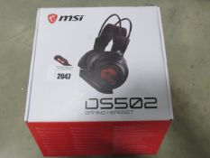 MSI DSI502 gaming headset for PC with box