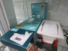 2 TP Link wi-fi range extenders model AC1750 with box