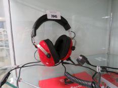 Pair of Thrustmaster Ferrari gaming headphones with microphone built in
