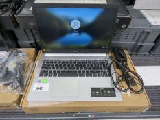 Acer Aspire 5 laptop core i3 10th gen processor, 4gb ram, 256gb storage, Windows 10 installed, power