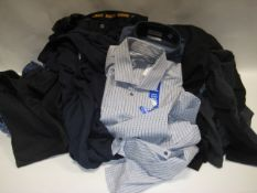 Bag containing ladies and gents clothing to incl. gents shirts, pair of DeWalt work trousers,