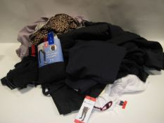 Bag containing ladies and gents clothing to include jogging tops, ladies trousers, logging pants,