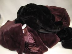 Bag containing six faux fur ladies jackets, mainly by DKNY, 1 by 32 Degree Heat