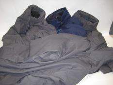 Four Berghaus jackets, 3 in grey 1 in blue all size XXL all tagged model A2 Gemini 3 in 1 jackets