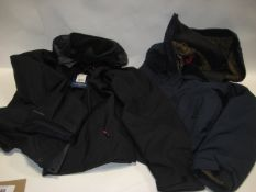 Berghaus XXL jacket in black together with a medium jacket by Jerry in blue