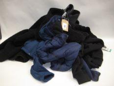 Six lighter weight jackets by Kirkland, 32 Degree Heat, Spider, Buffalo etc in black, blue, etc