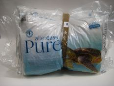 Three pillows by Aellerease Pure and a single pillow by Snuggle Down