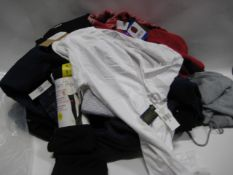 Bag containing ladies and gents clothing to include gents jumpers, ladies lounge wear by DKNY,