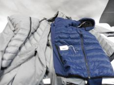 Eight mens 32 Degree heat full zipped hooded jackets, size L, 7 in grey,1 in blue