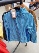2 ladies Columbia full zip hooded coats size L and XL