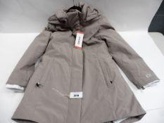 Ladies full zipped hooded DKNY coat sized M