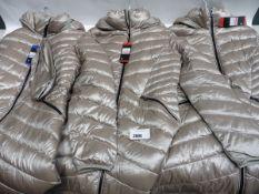 Three ladies full zip hooded Andrew Mark coats size M, M & L