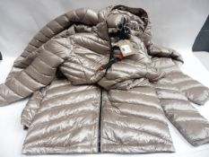 Three ladies full zip hood Andrew Mark coats sizes range from M, L & L