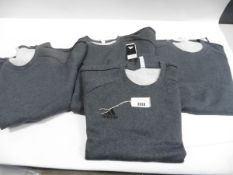 Four mens grey Adidas jumpers size XXL