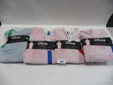 Four ladies Disney loungers with sherpa hood size M, L, L XL