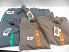 Lot containing six mens Jacks New York premium outdoor jumpers, sizes XL, XXL