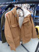 Men's full zip hooded Levi coat size XL