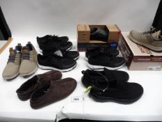 Eight pairs of mixed style shoes to include Puma, Sketcher, Deer foam etc