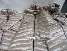 Three ladies full zip hood Andrew Mark coats sizes S, M & L