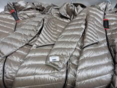 Three ladies full zip hooded Andrew Mark coat, 2 size M and 1 size L