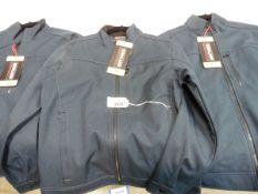 Three mens full zipped Kirkland jackets, all sized small