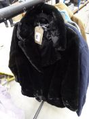 Ladies Andrew Mark soft quilted coat in black size M