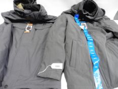 Two gents coats, 1 full zip hooded Gerry coat size XXL and a mens weatherproof Stretch Tech hooded